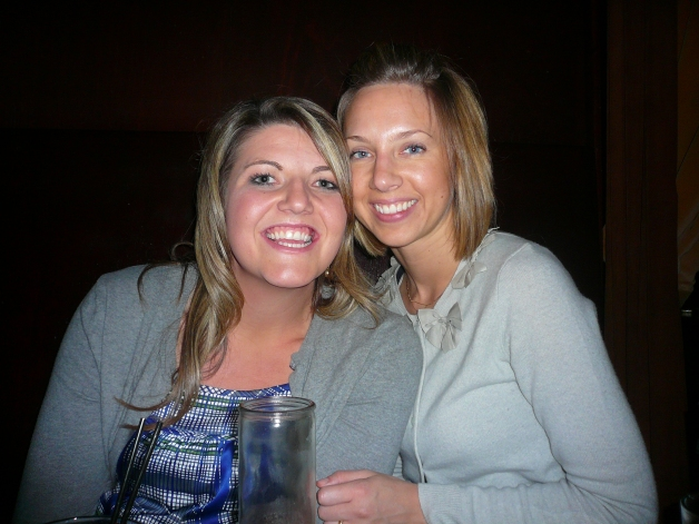 Amy and I at my birthday party this past January.